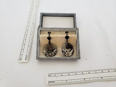 Vintage Japanese sterling silver earrings