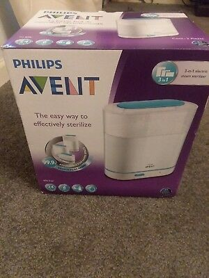 Philips AVENT 3-in-1 Electric Automatic Steam Sterilizer for Baby Bottles New