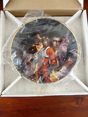 """star Wars"" Collector Plate By Morgan - Hamilton Collection Limited Edition Nib"