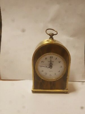Carriage Clock / Mantle Clock Vintage Estyma Brass Quartz