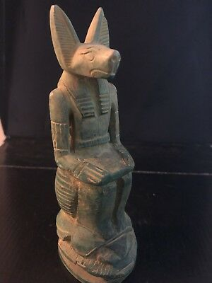 Rare Large Ancient Egyptian Seated Anubis Statue(c.3100-c.2890 BC)
