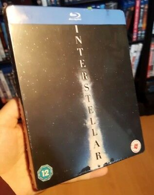 Interstellar - Steelbook Blu ray, UK Zavvi Exclusive New/Sealed - OOP