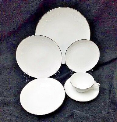 NORITAKE china Georgian 6440 patrn 6pc Place Setting cup/dinner/salad/bread/soup