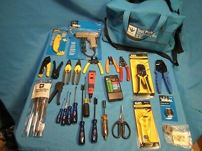 Klein Tools  IDEAL Datacomm Tool Kit 28 pc  Wire Strippers Crimpers, Fiber Optic