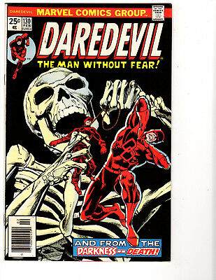 Daredevil #130 (2/76) F/VF (7.0) Classic,Tough,Black Cover! Great Bronze Age!