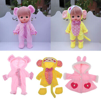 Cute Mini Clothes Set for Mellchan Baby 9-11inch Newborn Doll Clothes Suit