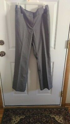 Ann Taylor Women's Pants Size 0 Gray Houndstooth Signature Fit Career