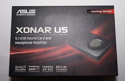 ASUS Sound Card Xonar U5, 5.1 USB sound card and headphone amplifier