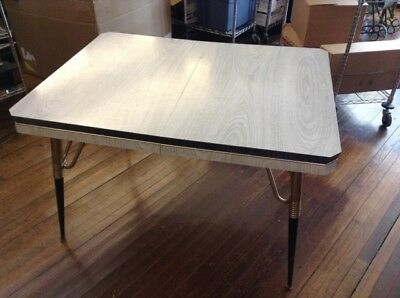Vintage Kitchen  Dinette Table 1950's Formica & Chrome, orig. ( 48 X 36 )