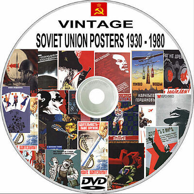 Russian Soviet Union USSR Cold War - Rare Posters 1930-1980 Over 1200 on DVD