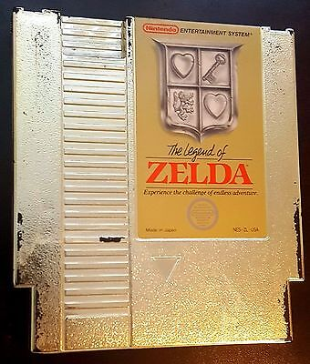 The Legend of Zelda Gold! Nintendo NES Authentic! Cleaned! Tested! Saves! Rare!