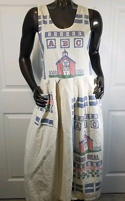 Vintage Flour Bag Dress Size Small By Old Bags Usa Pocket Rare