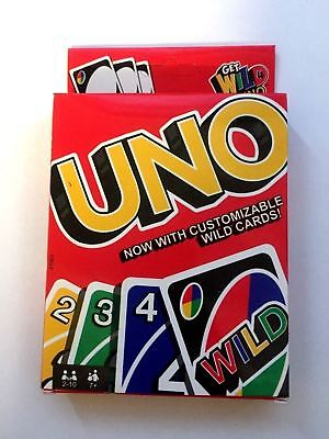 UNO ORIGINAL CARD GAME WITH WILD CARD Kids Toy Game  12 cards 2018 Version offer