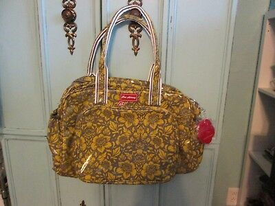 Lou Harvey-Alice-Acid Yellow Coated Canvas Diaper Bag-Large-Msrp $125-New w/tags