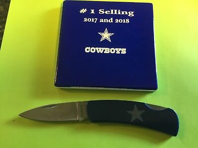 Dallas Cowboys Football Pocket Knife -NEW w/ packaging $3.45 Shipping
