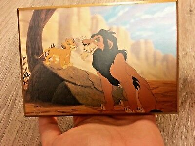 Lion king wooden wall art animation unknown maker disney scar simba lions cel ar
