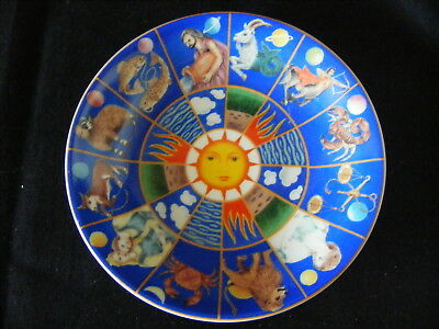 Queens Bone China Signs Of The Zodiac Astrological Wheel Horoscopes Pin Dish 5""