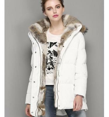 2019 Womens Short Thicken Fur Lined Down Chic Hooded Winter Slim Jacket Parka