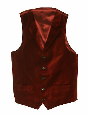 Lauren Ralph Lauren Boy's Velvet V Neck Button Front Vest Red Size 14 R