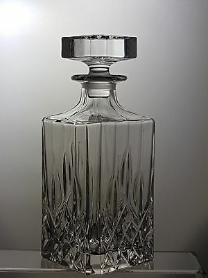 Real RCR Crystal Cut Glass Square Decanter (Not a cheap replicas)