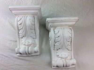 Antique Style Large Corbels Wall Brackets Plaster Old Leaf Sconces Architectural