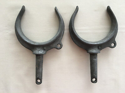 Vintage 2 Large Galvanized WC Wilcox Crittenden Oar Locks #3 Marine Hardware