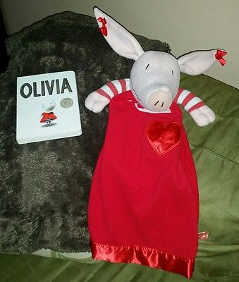 "Olivia 22"" Plush Toy Doll Security blankie Blanket board book lot nickelodeon"