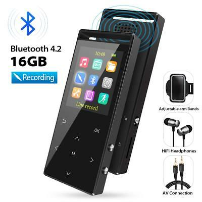 MP3 Player with Bluetooth, 16GB Portable Digital Music Player with FM Radio/Reco