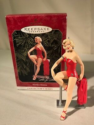 Marilyn Monroe Red Swimsuit Hallmark Christmas Ornament #3 1999 NEW IN BOX