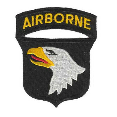 Airborne Patch Iron On Sew On Patch US 101st Division 2x3 FAST USA SHIPPING