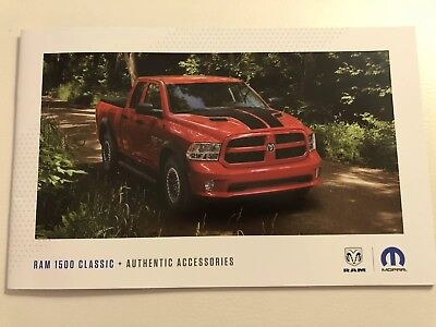 2018 DODGE RAM 1500 Accessories 20-page Original Sales Brochure