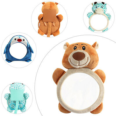 Cartoon Baby Rear View Facing PVC Mirrors Suitable for Newborn Child Safety Seat