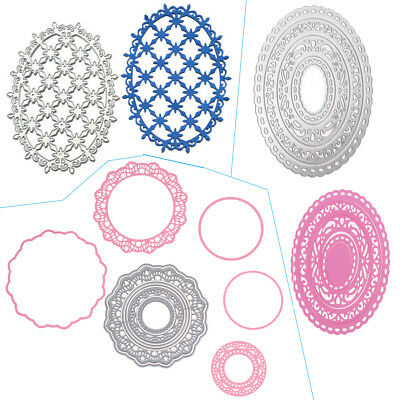 Oval Lace Cutting Dies Metal Stencil DIY Scrapbooking Album Paper Card Embossing