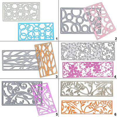Rectangle Frame Cutting Dies Stencil DIY Scrapbooking Album Paper Card Embossing