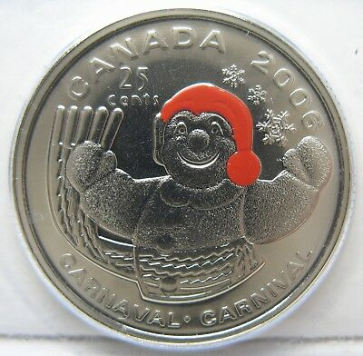 RCM - 2006-p - 25-cents - Quebec Winter Carnival - Original Sealed - One Coin