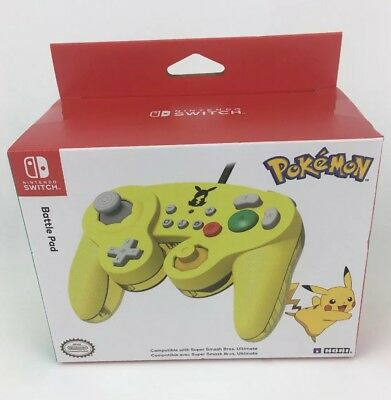 OEM Nintendo Switch Battle Pad Yellow Pokemon Pikachu GameCube Style Controller