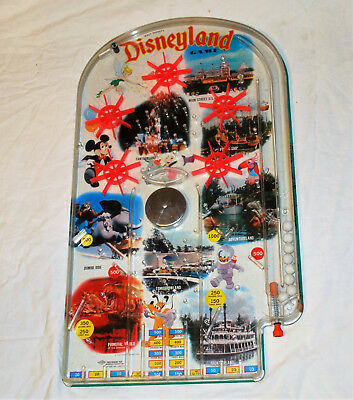 "VINTAGE Walt Disney's Disneyland 24"" Pinball Game by Wolverine VG Working"