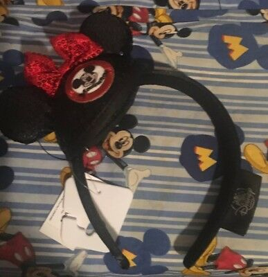 NEW Authentic Disney Minnie Mouse Ears Ear Headband - Mouseketeer