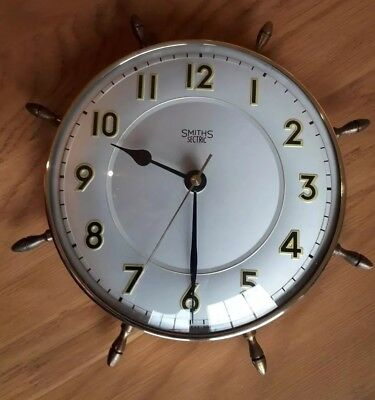Vintage Retro Smiths Maritime Wall Clock - Converted to Battery!