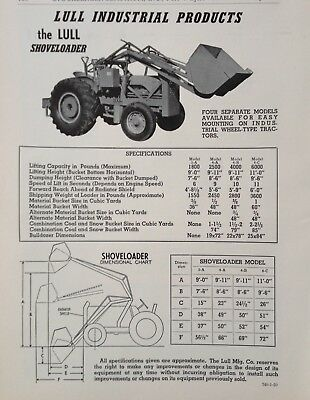 1950 Ad(G22)~Lull Industrial Products, Shovel Loader