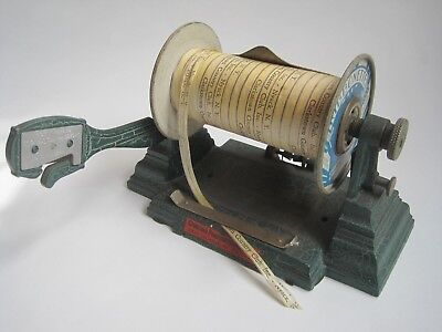 Antique cast iron dispenser Chicago Printed String Co. Ribbonette Ribbon