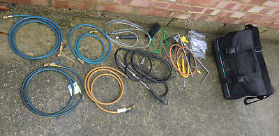 Gas tester analyser accessories: Probe, yellow jacket hose, carry bag on/off tap