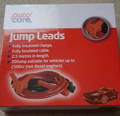 Halfords Up To 3.5M Jump Leads Colour Coded Car Vehicle Booster Flexible Cables
