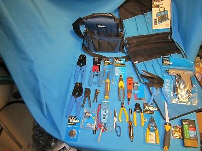 IDEAL Datacomm Tool Kit 24 pc  Testers Wire Strippers Crimpers, Fiber Optic
