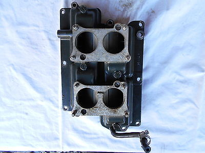 Johnson 85 HP Outboard Evinrude Intake Manifold Reed Electric Hydro Drive 1969