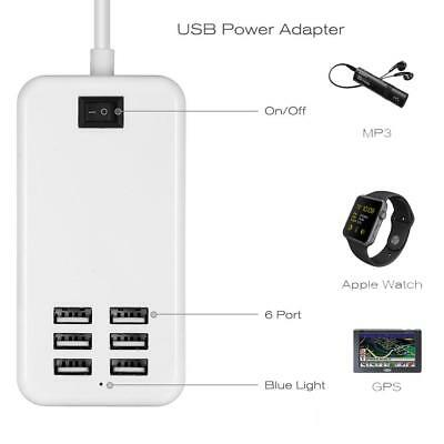 Multi Port USB Fast Charger 6-Port Adapter Travel Wall AC Power Supply YU @
