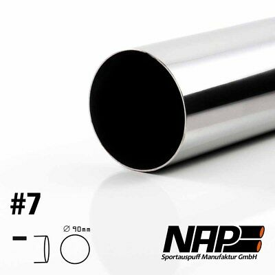 Nap Weld-On End Pipe 0 1/32x3 17/32in Sharp with ABE Stainless Steel