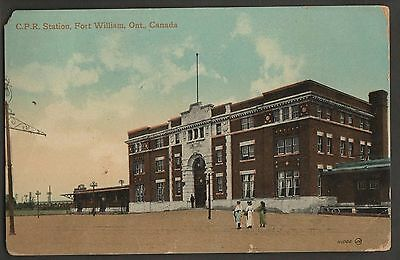 Canadian Pacific Railway Station Fort William Ont.1917