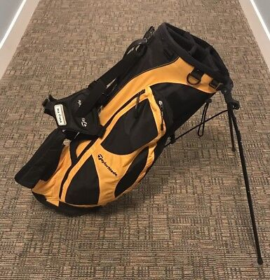 TaylorMade TM/TK Carry/Stand Golf Bag, Black And Yellow, Very Nice 👍