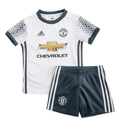 Manchester United Kit Adidas Officielle 3rd Kit Maillot & Ensemble Short Enfant